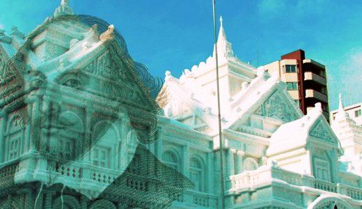 札幌雪まつりにシェイクスピアが出現!弦巻楽団の雪像が展示
