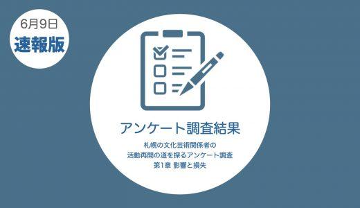 【アンケート調査】第1章の速報版が公開、数値が語る札幌演劇の現状とは